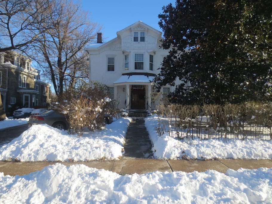 Front of Our House on West Walnut Lane - January 2014