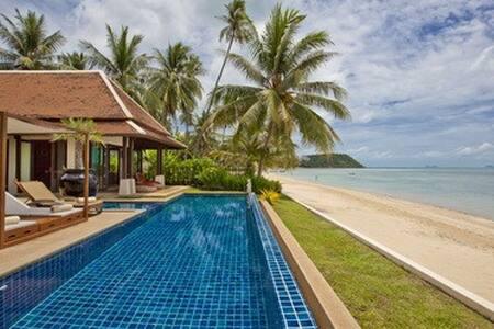 Vintage beachfront villa rental