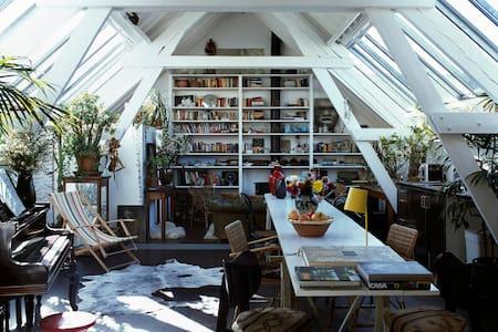 green loft in a former city farm - Anvers