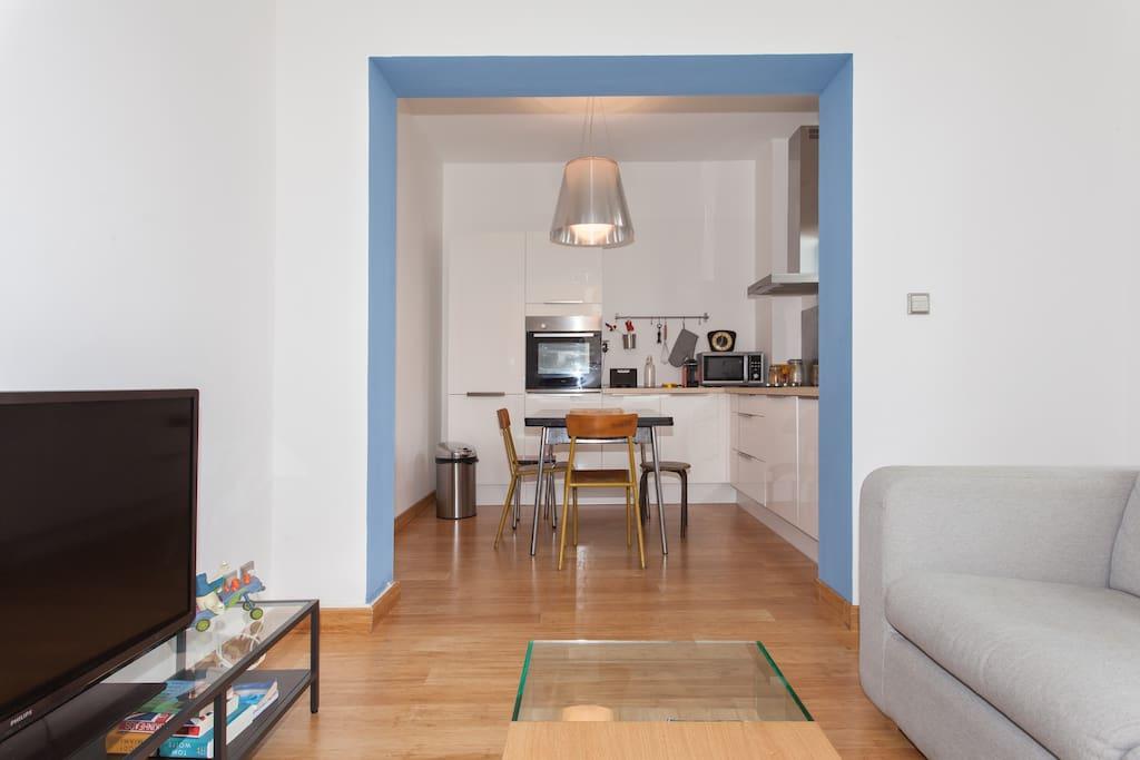 Apartment design seaside.