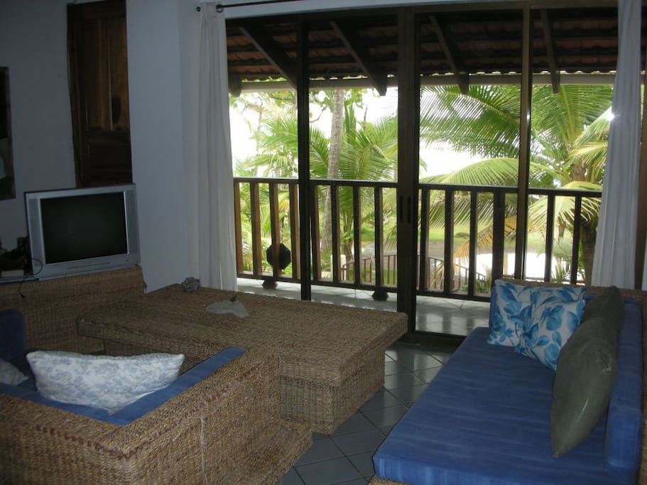 Enjoy the view of the beach from the upstairs family room.