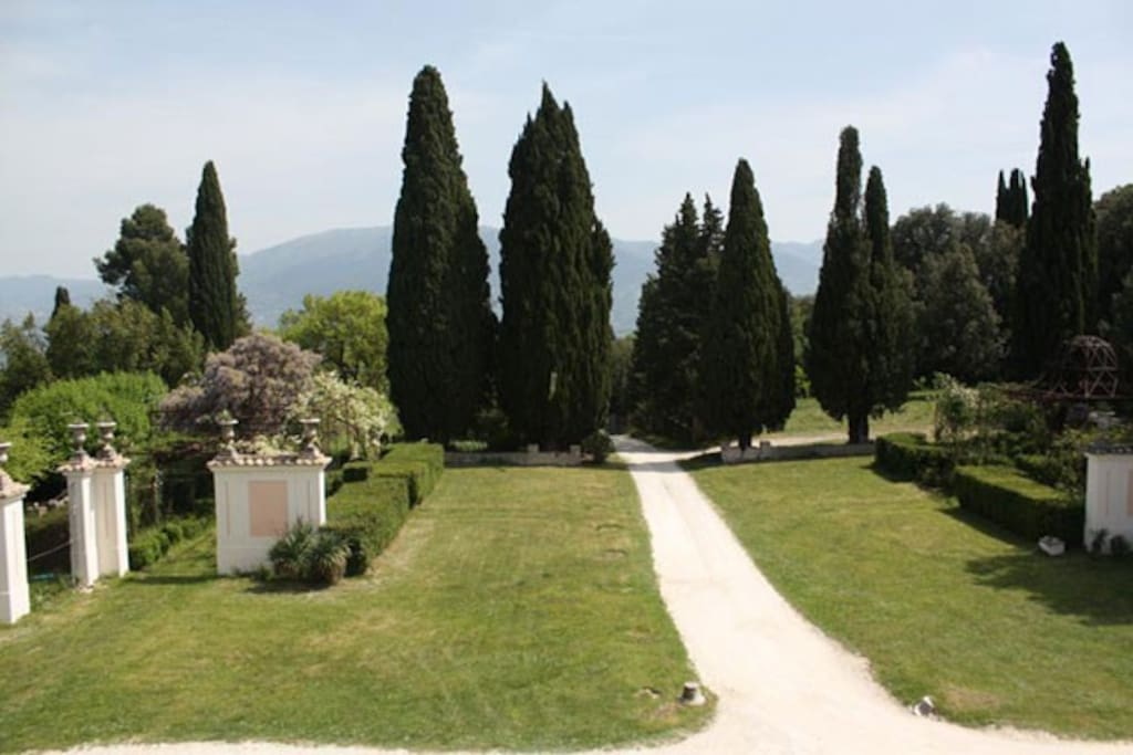 The historical park of Villa Pianciani