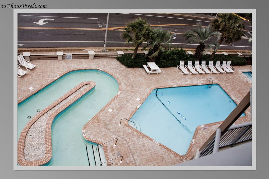 On site Lazy river, pool & jacuzzi