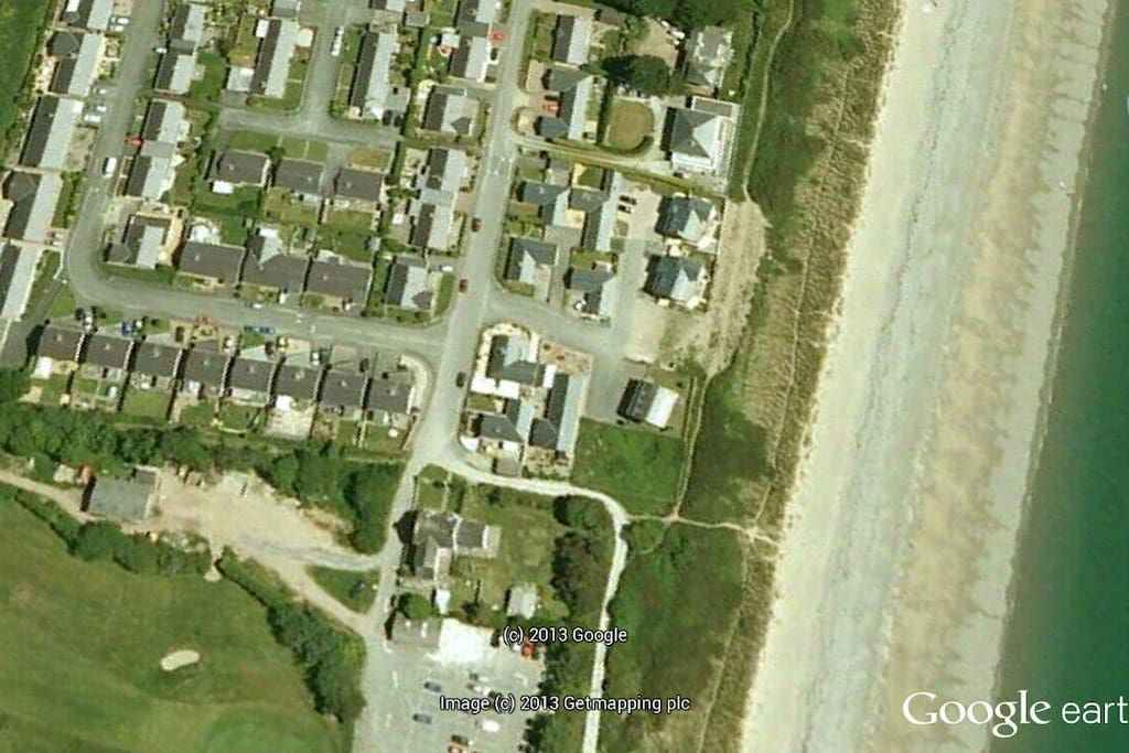 Google picture of our house and beach.