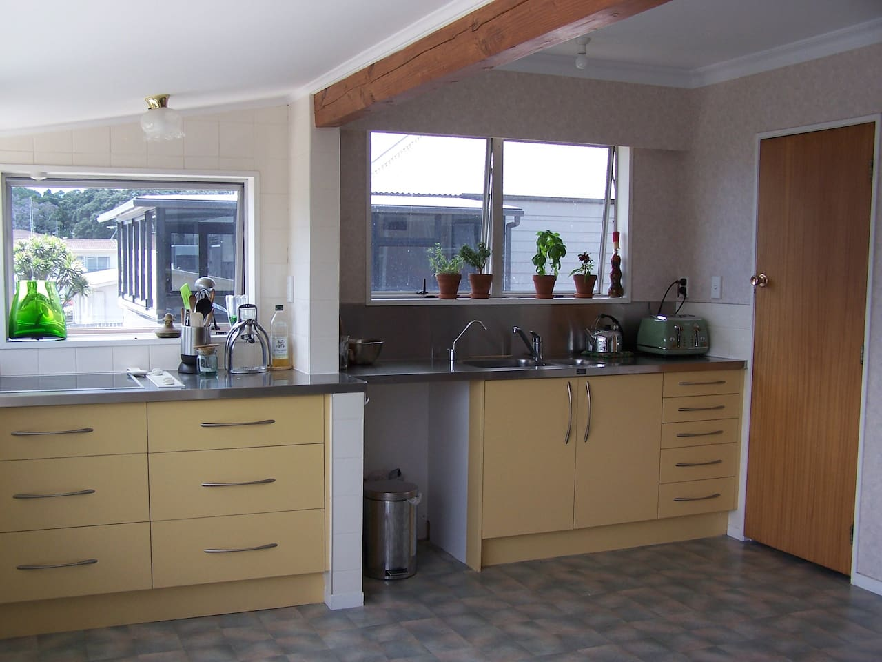 Spacious and light kitchen shared with Hosts