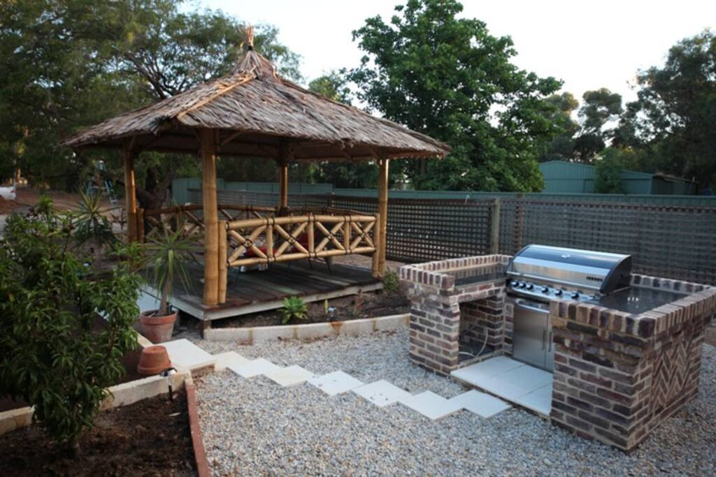 Bali gazebo and BBQ
