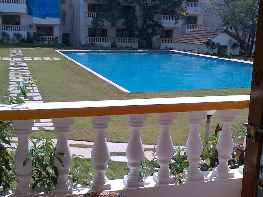 2nd Balcony Facing Pool & Landscaped Garden