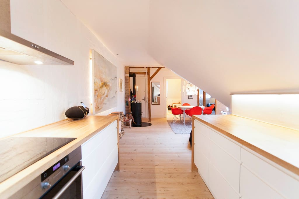 The open spaced kitchen
