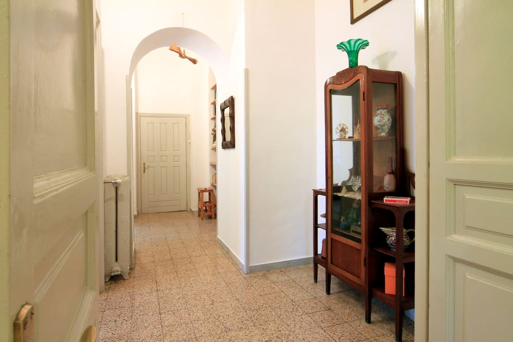 the entrance and the corridor