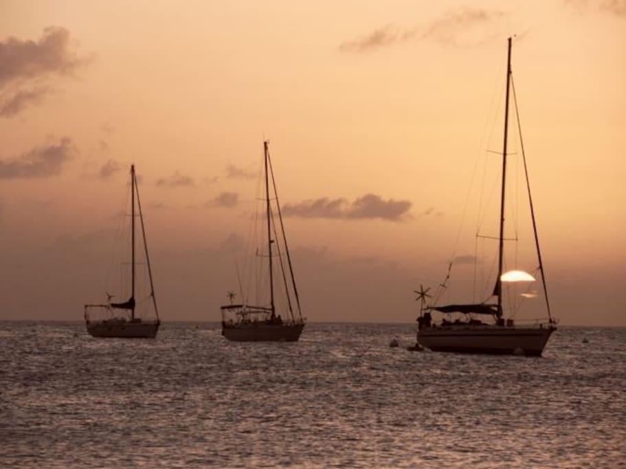 les fameux coucher de soleil de Martinique