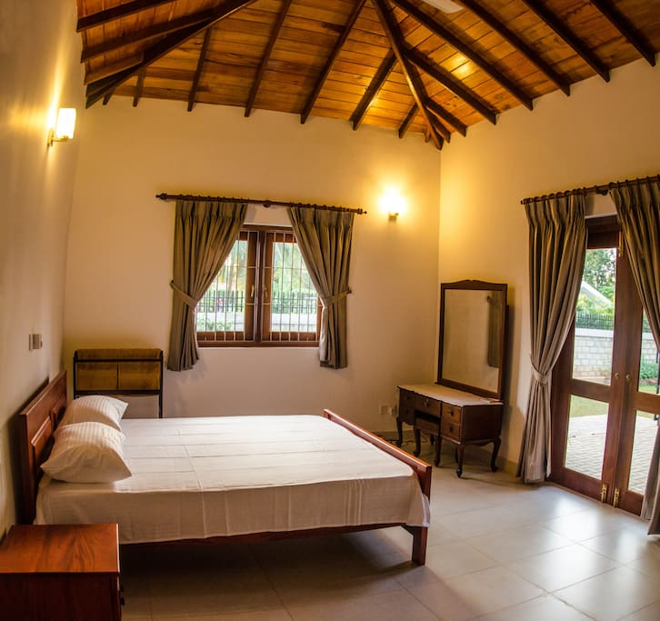 The bedrooms are very spacious and opens out to the courtyard