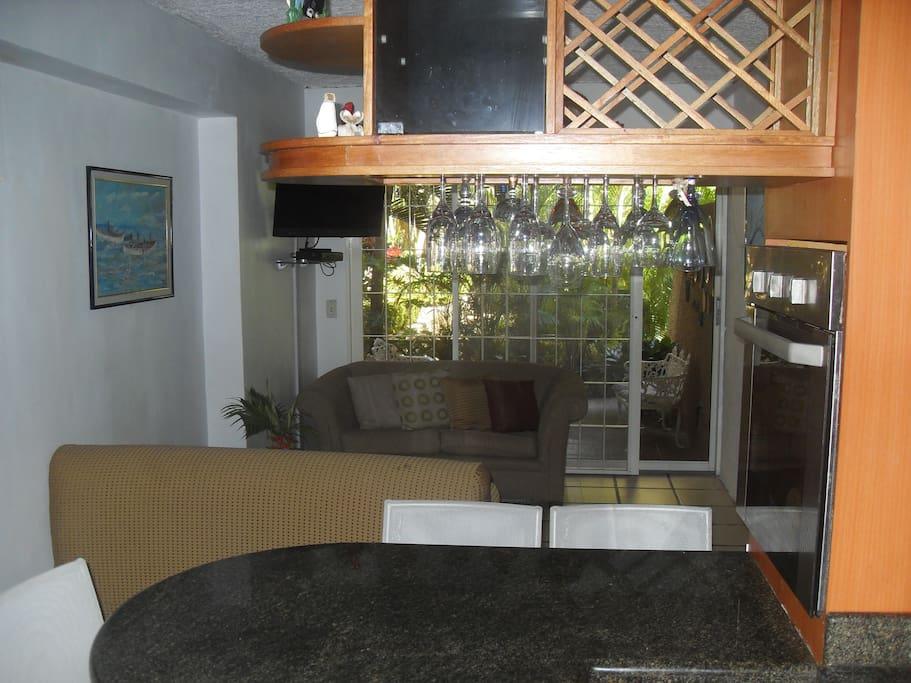 Apartamento. Vista desde la cocina