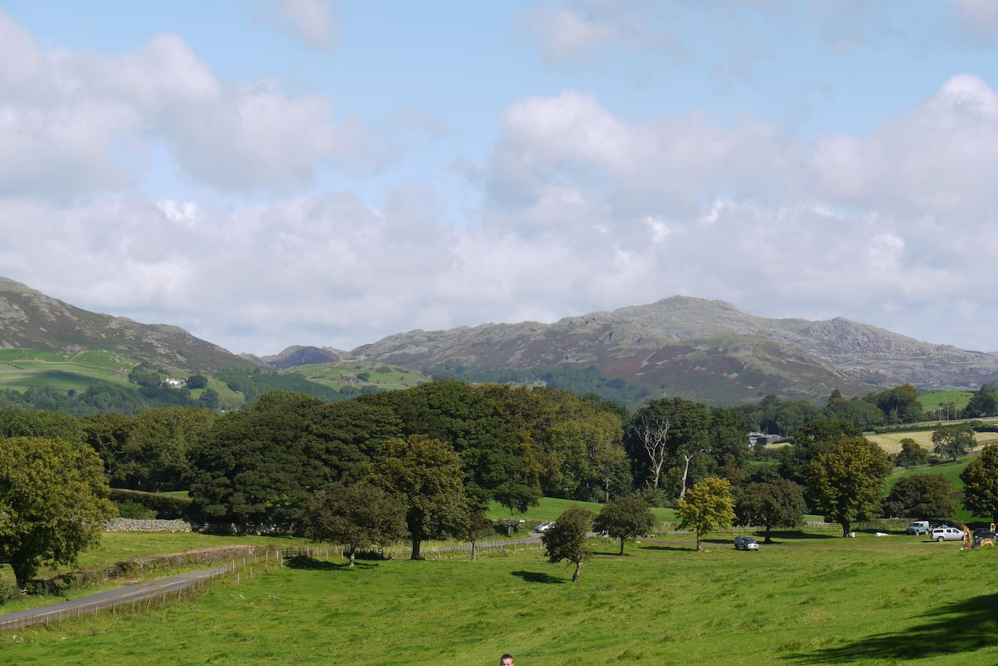 View towards Coniston Old Man from behind The House