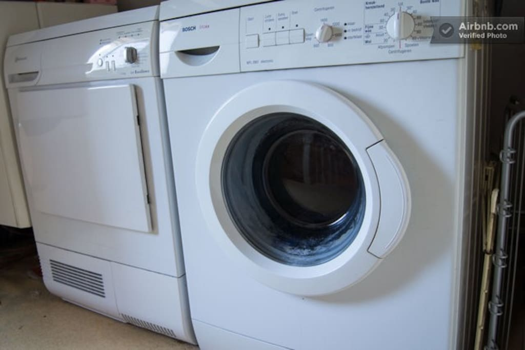 Dryer and washer included.