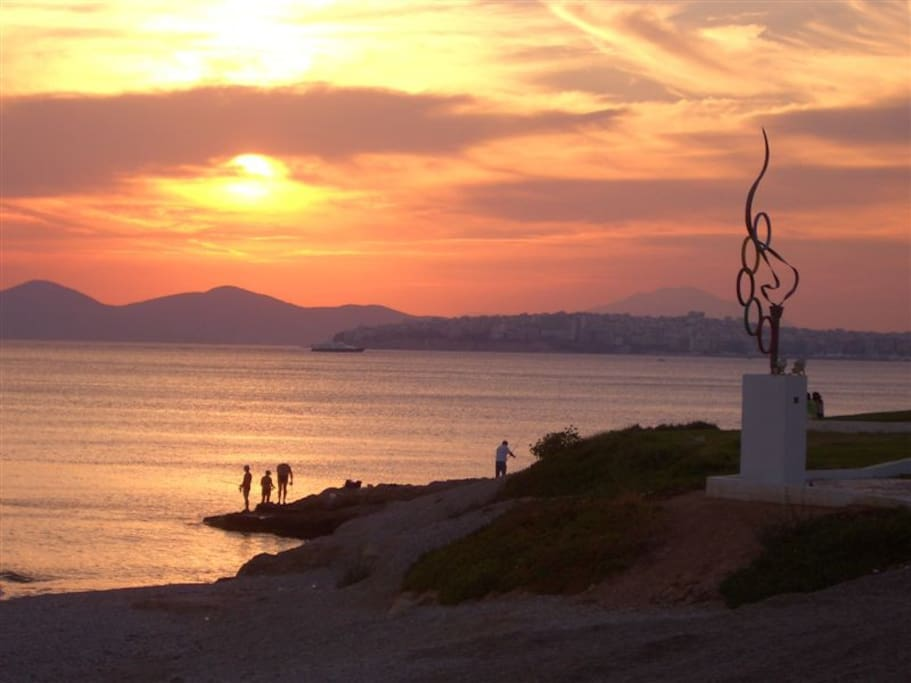 Probably the most beautiful area of Athens, next to the beach with magnificient sunset & great night life