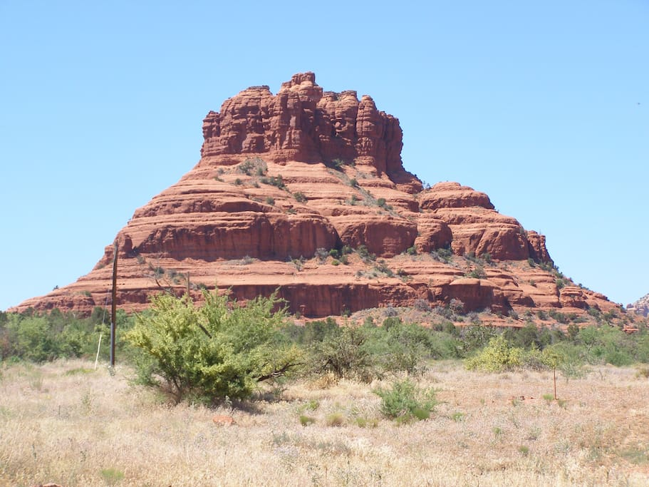 Bell Rock is just  a few blocks from our lovely home. A short walk to coffee house and markets.