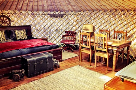 Deluxe Yurt on Private Peninsular in Yacht Harbour - Yurt