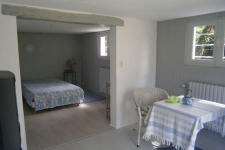 Grande chambre avec salle de douche, wc privatifs. - Huis