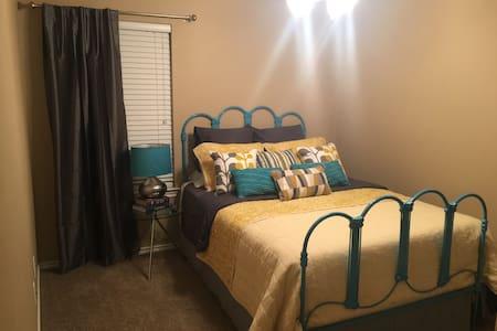 Vintage/Modern Guest Bedroom - House