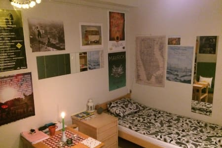 Cosy en-suite room with fast wi-fi and bicycle - Stockholm - Appartement
