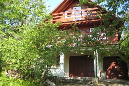 Ein  ruhiges Haus am See in  Kaszubien, im Wald. - House