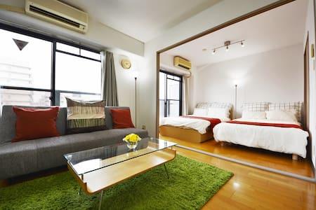 F 5ppl  Namba 3mins to metro+WIFI - Apartment