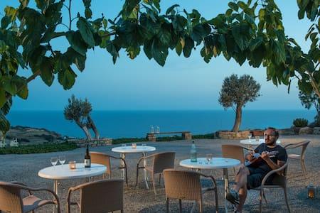Vue exceptionnelle au sud de la Crete - Triopetra