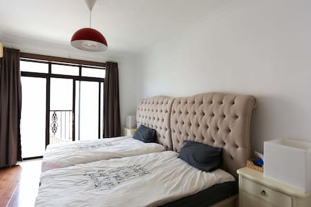 Bright Twin Room near Tianzifang - Apartment