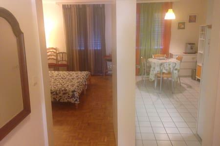Chambre15m2/cuisine/wifi/café fr/it - Troinex - Flat
