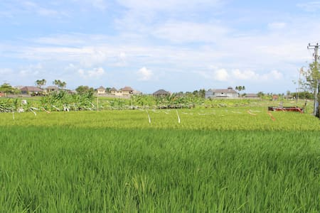 Thatched Rice Paddy Huts overlooking the sea - North Kuta - Blockhütte