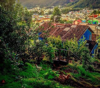 Recamara con linda vista hacia la huerta y jardín - San Cristóbal de las Casas