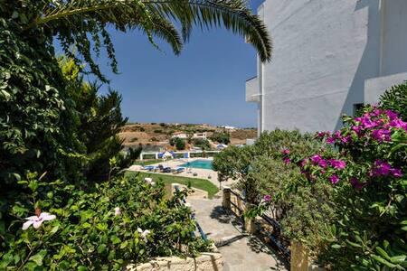 New!Comfy flat next to SEA! 2-4 per - Agia Pelagia - Apartment