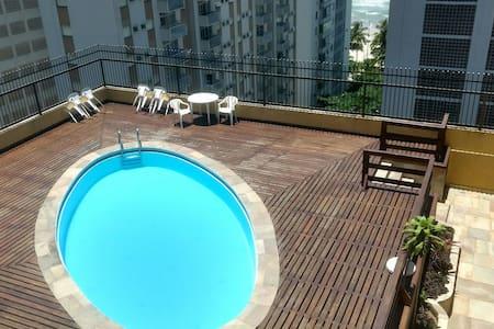 Apart-hotel, Suíte casal frente mar - Guarujá - Apartamento