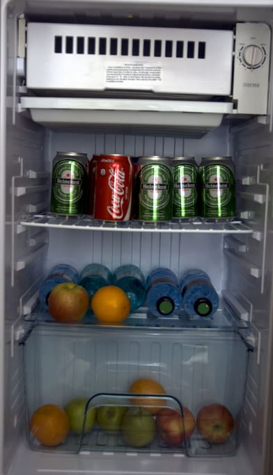 Let us know in advance and we fill up your fridge!