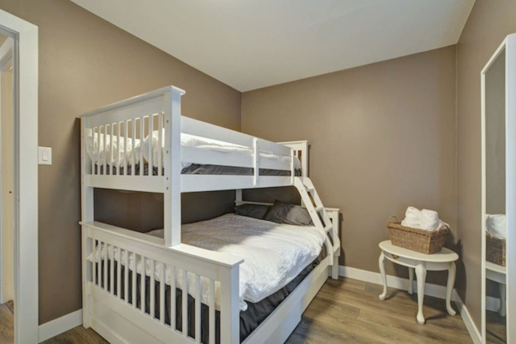 Single over Double bunk bed in 2nd bedroom
