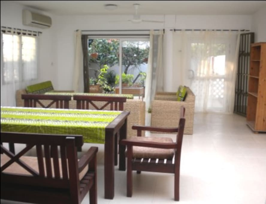 Downstairs dining, living, DSTV areas