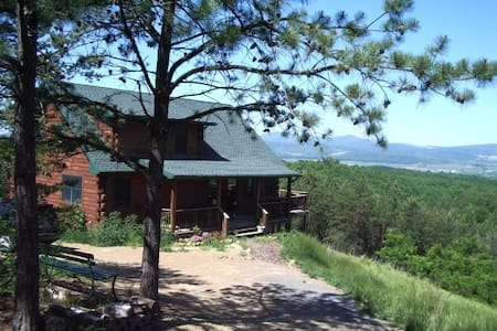Beautiful Log Cabin w/Gorgeous View - Moorefield - Hus