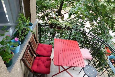 Beautiful & Green Bauhaus flat with 2 balconies - Budapest - Pis