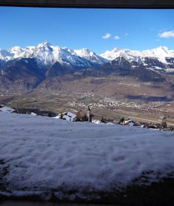 This apartment is located in the nice village of Veysonnaz on the mountain at a hight of 1400meters