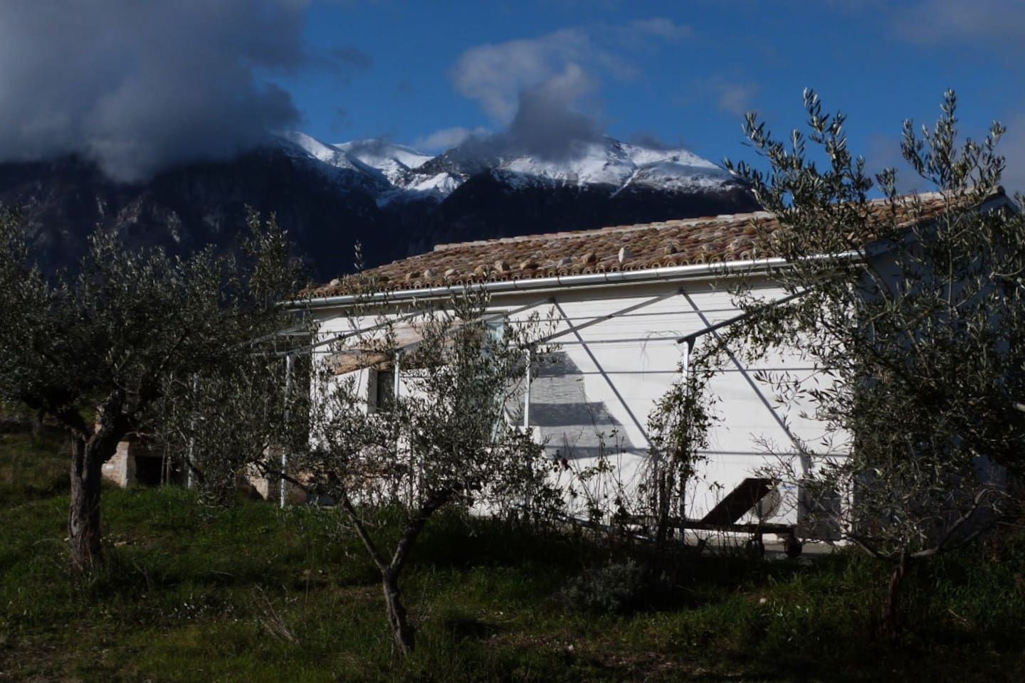 The house and view of the Maiella mountains. January 2014