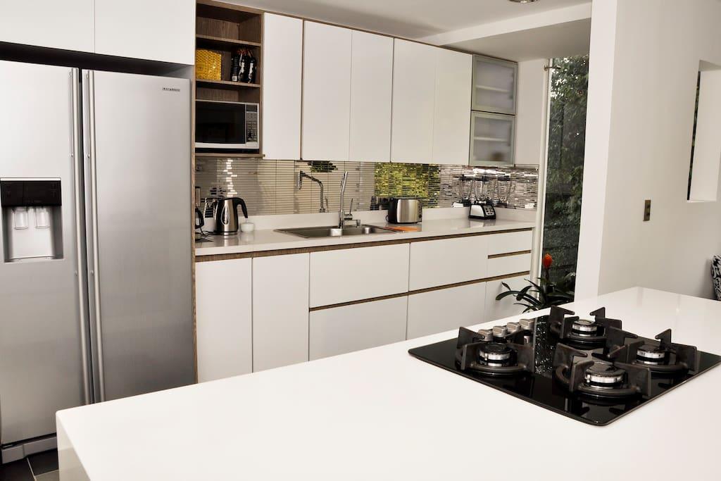 Massive kitchen with all modern equipment