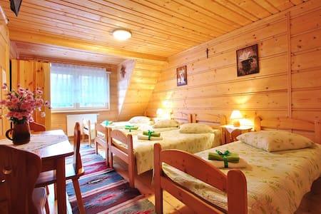 Przytulny drewniany domek na wsi - Nowy Targ County - Huis