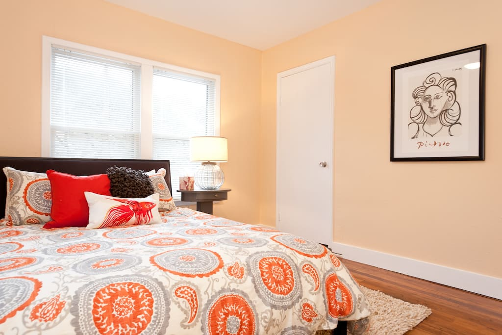 Plenty of closet space will accommodate a lengthy stay.
