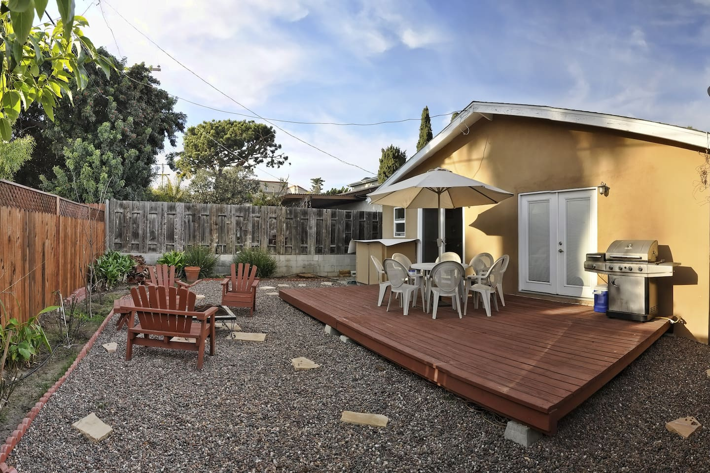 Enjoy this house plus its beautiful private backyard.