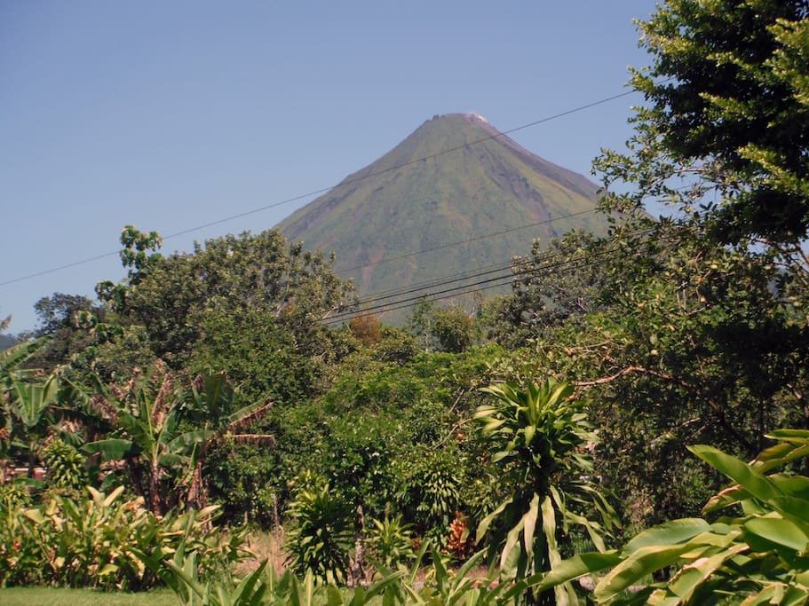 Arenal Volcano view from Cabinas La Catarata