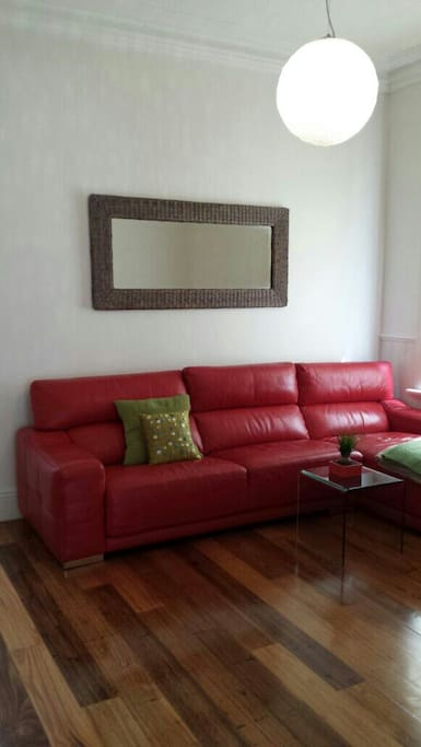 A large and comfortable couch with chaise lounge