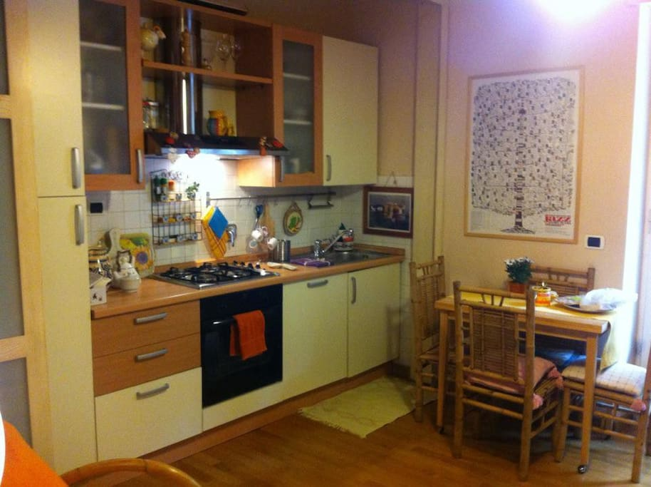 oven, dishwasher and all kitchen utensils available!