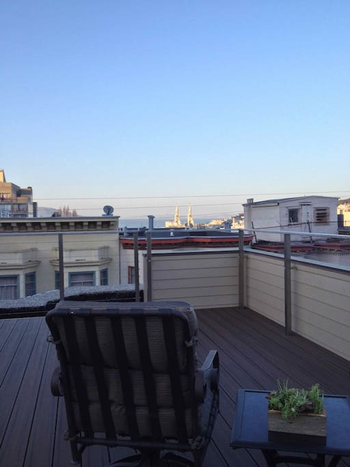 Your own private roof deck with  access from  apartment