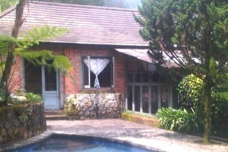 pool villa in 1 hectare area bogor