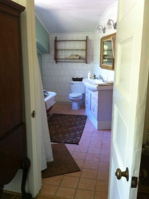 #1 Private Master Bath Claw foot tub and separate shower